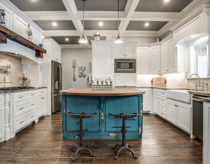 Coffered Kitchen by SWANSON RENOVATIONS LLC