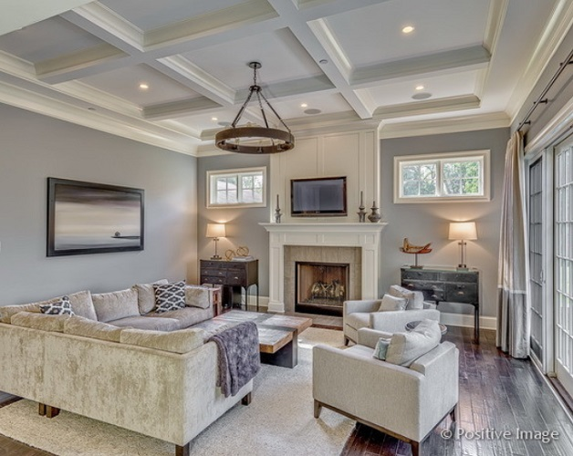 Contemporary Family Room by Summit Signature Homes, Inc