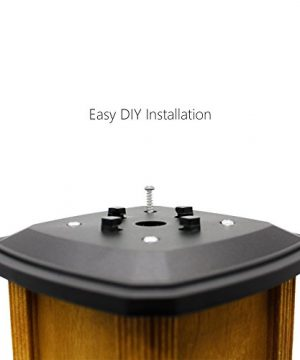 Davinci Flexfit Solar Post Cap Lights Outdoor Lighting For 4x4 5x5 And 6x6 Wooden Posts Bright Warm White LEDs Slate Black 2 Pack 0 0 300x360