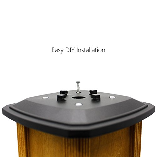 Davinci Flexfit Solar Post Cap Lights Outdoor Lighting For 4x4 5x5 And 6x6 Wooden Posts Bright Warm White LEDs Slate Black 2 Pack 0 0