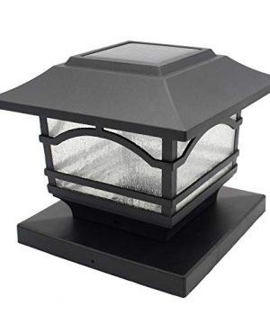 Davinci Premium Solar LED Post Cap Light Outdoor Light For Fence Deck Or Patio Solar Powered Caps Warm White Lighting Aluminum Lamp Fits 4x4 Or 6x6 Posts 0 300x360