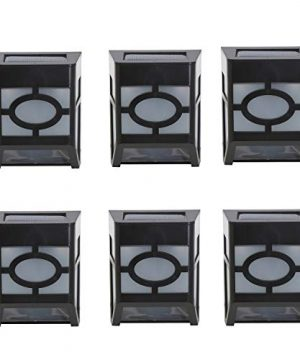 DiDi DENG Solar Fence Lights Outdoor Waterproof Warm White Decorative Landscape Lighting Solar Powered LED For Garden Yard Patio Path Step Front Door Post 6 Pack 0 300x360