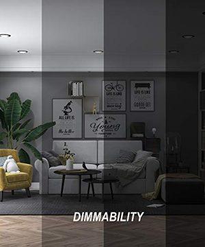 ECOELER 56 Dimmable LED Disk Light Flush Mount Ceiling Fixture For Home Improved Bronze Color Aluminum Baffle Trim 15W CRI90 PF09 4000K Cool White 4 Pack 0 1 300x360