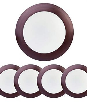 ECOELER 56 Dimmable LED Disk Light Flush Mount Ceiling Fixture For Home Improved Bronze Color Aluminum Baffle Trim 15W CRI90 PF09 4000K Cool White 4 Pack 0 300x360