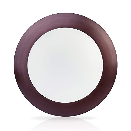 ECOELER 6 Inch 15W Dimmable LED Disk Light Pack Of 10 Aluminum Baffle Bronze Trim Round Flush Mount Recessed Retrofit 3000K Warm White CRI90 1050lm Damp Rated 0 0