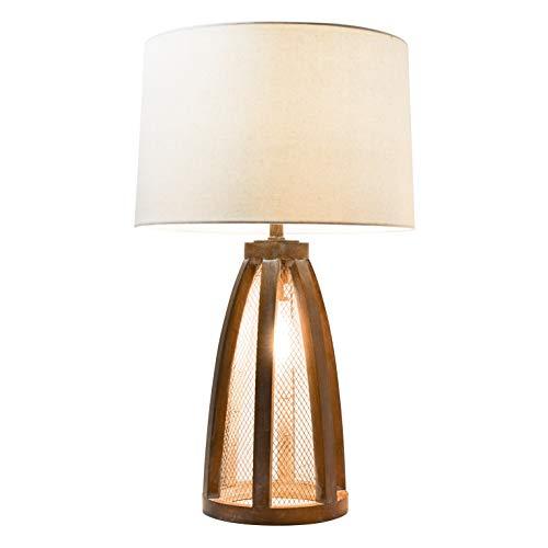 Elegant Designs LT3309 OWD Vintage Farmhouse Netted 2 Light Table Lamp Old Wood 0 0
