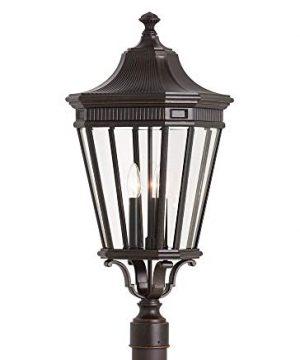 Feiss OL5408GBZ Cotswold Lane Outdoor Post Lighting Bronze 3 Light 12W X 28H 180watts 0 300x360