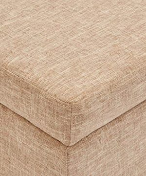 First Hill Damara Lift Top Storage Ottoman Bench With Fabric Upholstery Bistro Biscuit 0 2 300x360