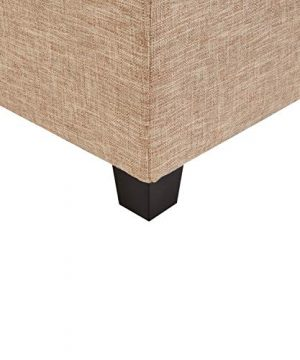 First Hill Damara Lift Top Storage Ottoman Bench With Fabric Upholstery Bistro Biscuit 0 3 300x360