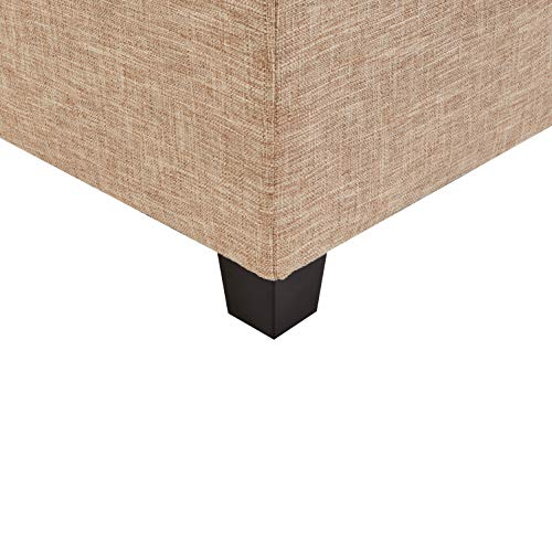 First Hill Damara Lift Top Storage Ottoman Bench With Fabric Upholstery Bistro Biscuit 0 3
