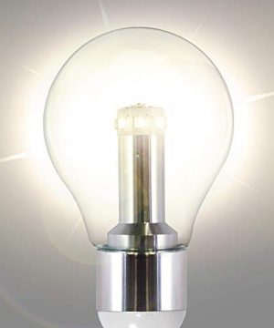 GAMA SONIC Royal Bulb Solar Lamp Post GS Solar Light Bulb Double Lamps Brushed Bronze GS 98B D BB 0 2 300x360
