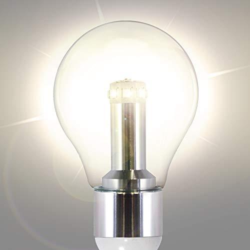 GAMA SONIC Royal Bulb Solar Lamp Post GS Solar Light Bulb Double Lamps Brushed Bronze GS 98B D BB 0 2