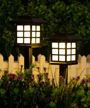 GIGALUMI 12 Pack Solar Pathway Lights Outdoor Waterproof Outdoor Solar Lights For Garden Landscape Path Yard Patio Driveway Walkway 0 1 300x360