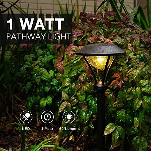 GOODSMANN 8 Pack Landscape Lighting Pathway Lights Outdoor 1 Watt LED Celestail Low Voltage Landscape Lights With Metal Stake 60 Lumens For Garden Yard Patio 9920 2104 08 0 0