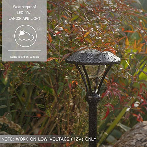 GOODSMANN 8 Pack Landscape Lighting Pathway Lights Outdoor 1 Watt LED Celestail Low Voltage Landscape Lights With Metal Stake 60 Lumens For Garden Yard Patio 9920 2104 08 0 1