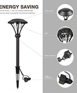 GOODSMANN 8 Pack Landscape Lighting Pathway Lights Outdoor 1 Watt LED Celestail Low Voltage Landscape Lights With Metal Stake 60 Lumens For Garden Yard Patio 9920 2104 08 0 2 300x360