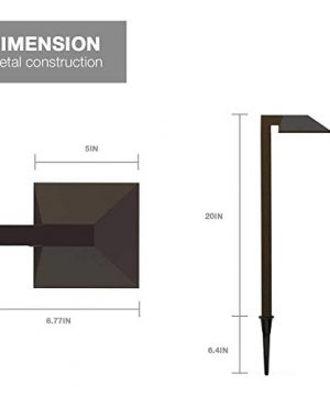 GOODSMANN Equinox 8 Pack LED Low Voltage Landscape Lighting 06 Watt Pathway Light With Metal Stake 22 Lumen Warm White Charcoal Brown 9920 2101 08 0 3 300x360