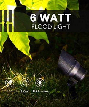 GOODSMANN Landscape Lighting Flood Light 6W LED Low Voltage Garden Light With Metal Spike Stand 145 Lumens 9920 2604 01 0 1 300x360