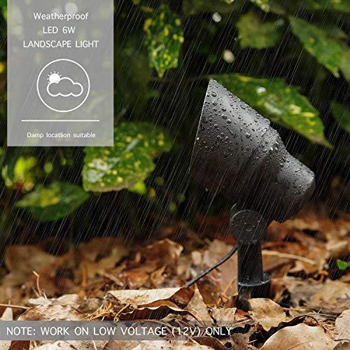 GOODSMANN Landscape Lighting Flood Light 6W LED Low Voltage Garden Light With Metal Spike Stand 145 Lumens 9920 2604 01 0 2