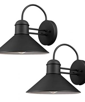 Globe Electric 44165 Sebastien 1 Light Outdoor Wall Sconce 2 Pack Black Finish 0 300x360
