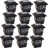 GreenLighting-12-Pack-Classica-High-Lumen-Plastic-Solar-Post-Cap-Lights-for-4x4-Wood-Posts-Black-0