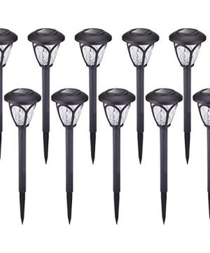 HECARIM Solar Lights Outdoor 10 Pack Solar Pathway Lights Solar Powered Garden Lights Waterproof LED Solar Landscape Lights For Walkway Pathway Lawn Yard And Driveway 0 300x360