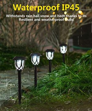 Hiahoo Solar Lights Outdoor 6 Pack Solar Pathway Lights Solar Powered Garden Lights Waterproof LED Solar Landscape Lights For Walkway Pathway Lawn Yard And Driveway 0 1 300x360