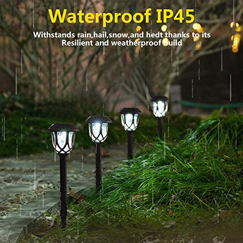 Hiahoo Solar Lights Outdoor 6 Pack Solar Pathway Lights Solar Powered Garden Lights Waterproof LED Solar Landscape Lights For Walkway Pathway Lawn Yard And Driveway 0 1