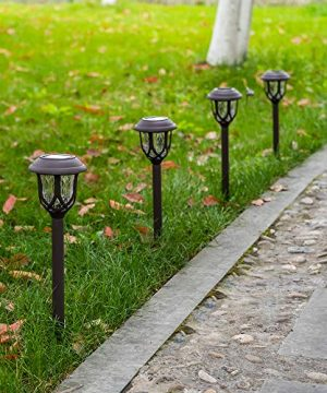 Hiahoo Solar Lights Outdoor 6 Pack Solar Pathway Lights Solar Powered Garden Lights Waterproof LED Solar Landscape Lights For Walkway Pathway Lawn Yard And Driveway 0 3 300x360