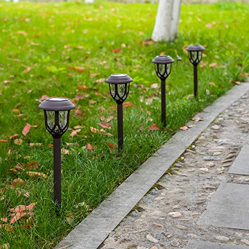 Hiahoo Solar Lights Outdoor 6 Pack Solar Pathway Lights Solar Powered Garden Lights Waterproof LED Solar Landscape Lights For Walkway Pathway Lawn Yard And Driveway 0 3