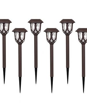 Hiahoo Solar Lights Outdoor 6 Pack Solar Pathway Lights Solar Powered Garden Lights Waterproof LED Solar Landscape Lights For Walkway Pathway Lawn Yard And Driveway 0 300x360