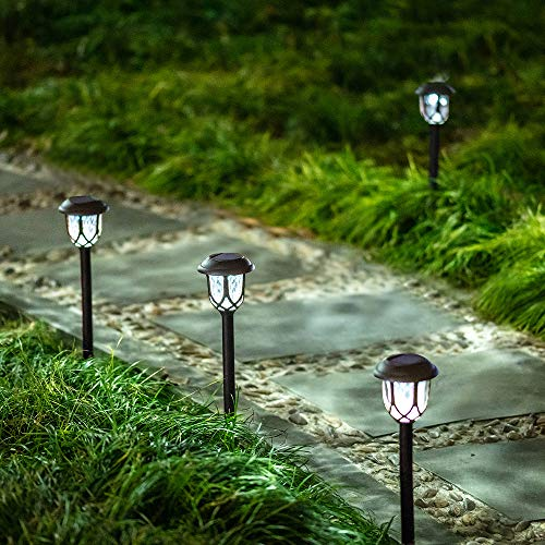 Hiahoo Solar Lights Outdoor 6 Pack Solar Pathway Lights Solar Powered Garden Lights Waterproof LED Solar Landscape Lights For Walkway Pathway Lawn Yard And Driveway 0 4