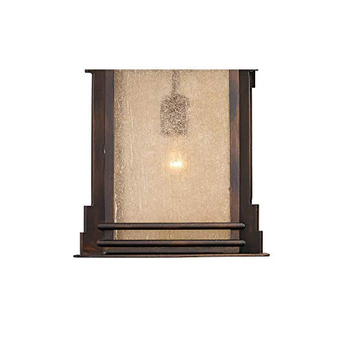 Hickory Point Rustic Farmhouse Outdoor Wall Light Fixture Walnut Bronze 19 Lantern Frosted Cream Glass For Exterior House Porch Patio Deck Garage Franklin Iron Works 0 1