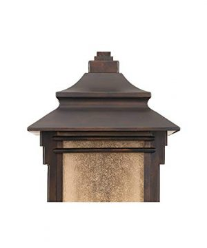 Hickory Point Rustic Farmhouse Outdoor Wall Light Fixture Walnut Bronze 19 Lantern Frosted Cream Glass For Exterior House Porch Patio Deck Garage Franklin Iron Works 0 2 300x360