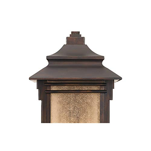 Hickory Point Rustic Farmhouse Outdoor Wall Light Fixture Walnut Bronze 19 Lantern Frosted Cream Glass For Exterior House Porch Patio Deck Garage Franklin Iron Works 0 2