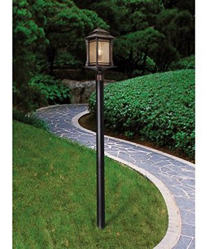 Hickory Point Rustic Outdoor Post Light Walnut Bronze Vintage 21 12 Frosted Cream Glass Lantern For Exterior Garden Yard Franklin Iron Works 0 1 300x360