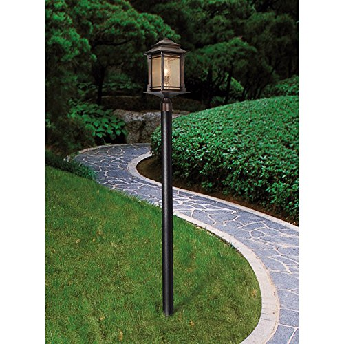 Hickory Point Rustic Outdoor Post Light Walnut Bronze Vintage 21 12 Frosted Cream Glass Lantern For Exterior Garden Yard Franklin Iron Works 0 1