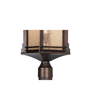 Hickory Point Rustic Outdoor Post Light Walnut Bronze Vintage 21 12 Frosted Cream Glass Lantern For Exterior Garden Yard Franklin Iron Works 0 2 300x360