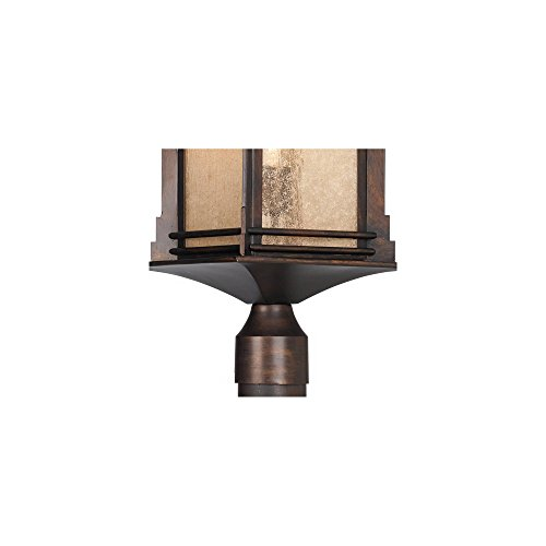 Hickory Point Rustic Outdoor Post Light Walnut Bronze Vintage 21 12 Frosted Cream Glass Lantern For Exterior Garden Yard Franklin Iron Works 0 2