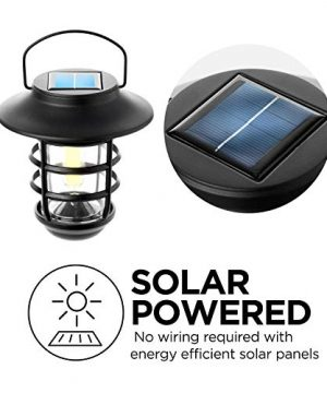Home Zone Security Solar Wall Lantern Lights Outdoor 3000K Decorative Lantern Lights With No Wiring Required 2 Pack 0 0 300x360