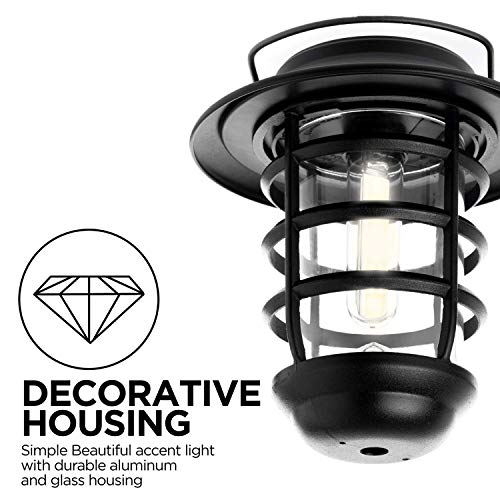 Home Zone Security Solar Wall Lantern Lights Outdoor 3000K Decorative Lantern Lights With No Wiring Required 2 Pack 0 3