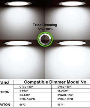 Hykolity 12 Pack 6 Inch Recessed Lighting With Junction Box CRI90 14W100W 5000K Daylight White 1100lm Dimmable Ultra Thin LED Downlight Canless LED Recessed Ceiling Light ETL 0 1 300x360