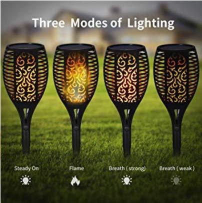 Iyoyo 1 Pack Solar Torch Light 3 Lighting Mode Landscape Decoration Dancing Flame Lights For Garden 0 2