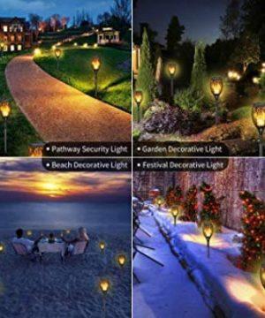 Iyoyo 1 Pack Solar Torch Light 3 Lighting Mode Landscape Decoration Dancing Flame Lights For Garden 0 3 300x360