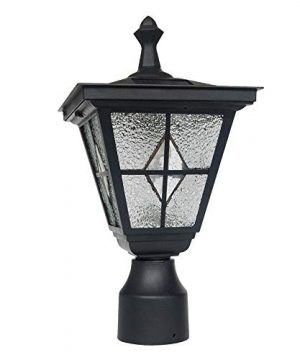Kemeco ST4221SSP4 LED Cast Aluminum Solar Lamp Post Light With Planter Arm Hook For Outdoor Landscape Pathway Street Patio Garden Yard 0 0 300x360