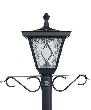 Kemeco ST4221SSP4 LED Cast Aluminum Solar Lamp Post Light With Planter Arm Hook For Outdoor Landscape Pathway Street Patio Garden Yard 0 1 300x360