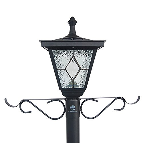 Kemeco ST4221SSP4 LED Cast Aluminum Solar Lamp Post Light With Planter Arm Hook For Outdoor Landscape Pathway Street Patio Garden Yard 0 1