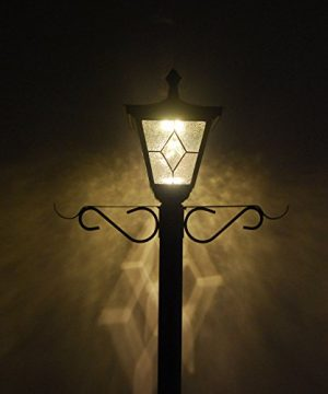 Kemeco ST4221SSP4 LED Cast Aluminum Solar Lamp Post Light With Planter Arm Hook For Outdoor Landscape Pathway Street Patio Garden Yard 0 3 300x360