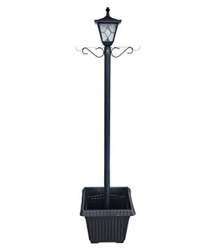 Kemeco ST4221SSP4 LED Cast Aluminum Solar Lamp Post Light With Planter Arm Hook For Outdoor Landscape Pathway Street Patio Garden Yard 0 300x360
