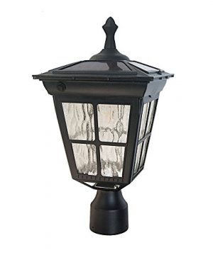 Kemeco ST4311AHP 6 LED Cast Aluminum Solar Lamp Post Light With Planter For Outdoor Landscape Pathway Street Patio Garden Yard 0 0 300x360